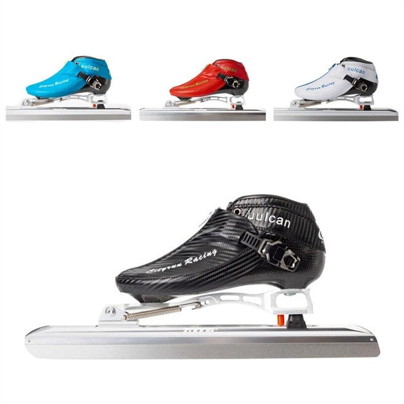 Cityrun patins de gelo sapatos zip bota deslocamento lâmina gelo patines patinação 380mm 410mm 430mm 62 hrc faca pista bordo velocidade corrida