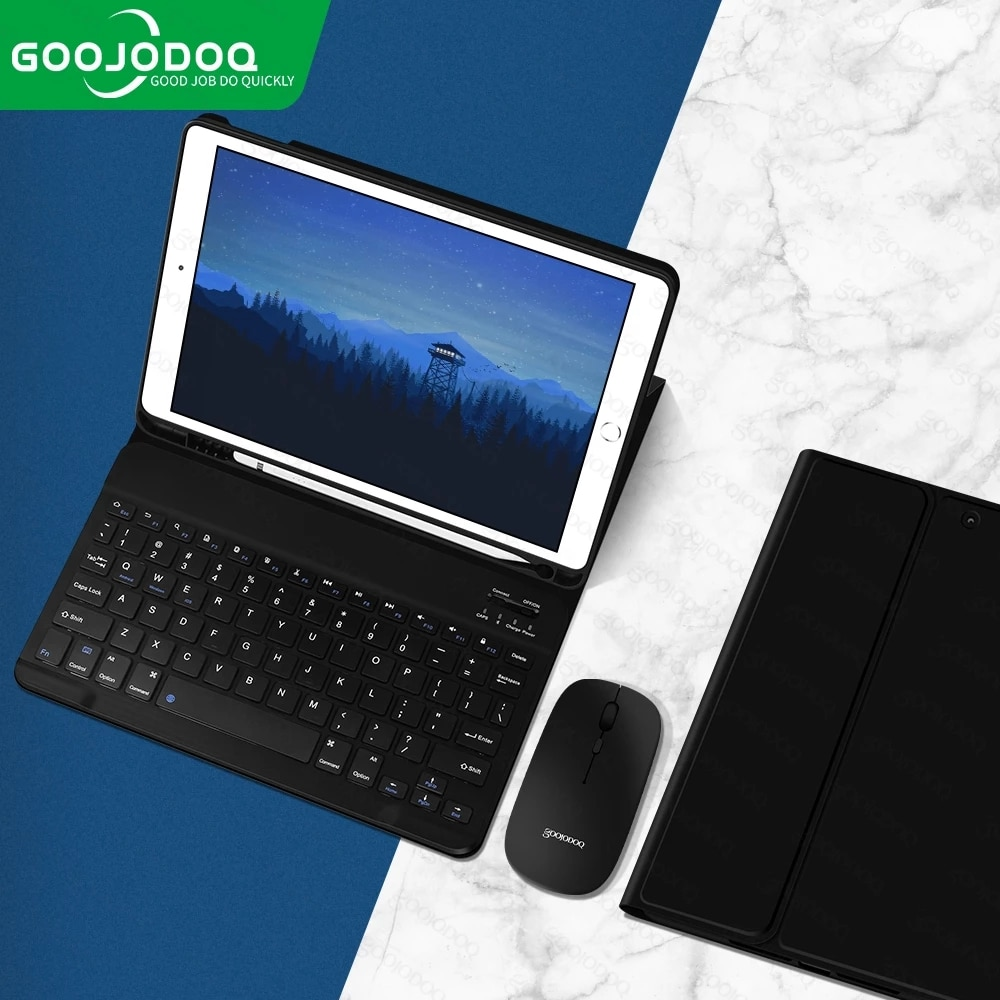 For iPad 7th 8th Generation Case with Keyboard Mouse for iPad 10.2 Pro 11 Air 3 4 10.9 Pro 10.5 Air2 9.7 Case with Pencil Holder