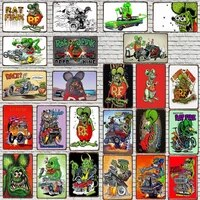 YZFQ    Cartoon Etain Signe Plaque Metal Retro Bar Cafe Boutique Maison Art Artisanat Decor de Cinema 30X20CM DU-9664A