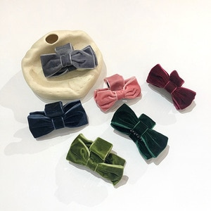 Free shipping velvet bow women's hair accessories hair claw ins style girl's elegant hairclips
