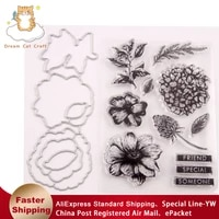 flowers bird metal cutting dies and stamps stencil greeting card diy scrapbooking paper photo album new arrival stamps and dies