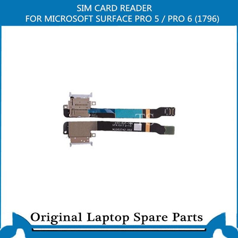 Leitor de cartão sim original para microsoft surface pro 5/pro 6 (1796) slot para cartão sd cabo flexível M1003742-002