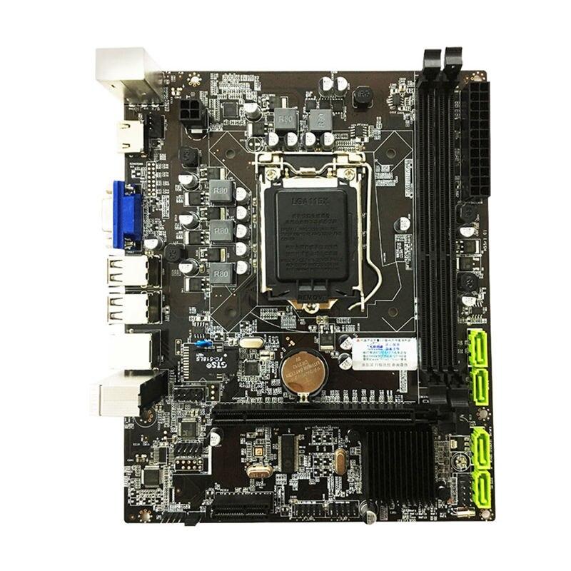 H55 carte mère LGA1156 DDR3 16 grammes double Sata 2.0 4xUSB 2.0 carte mère pci-express prend en charge I3 I5 I7 CPU pour ordinateur