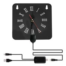 HD Digital Indoor TV Antenna 80 Miles Range Support 4K 1080P HDTV Alarm Clock Amplifier Signal Booster for Digital TV USB Connec