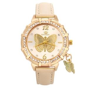 Womens Watch New Women Quartz Wrist Butterfly Tower Rhinestone Pendant Wrist Watch Watches Women Fashion Watch 2021 Designer
