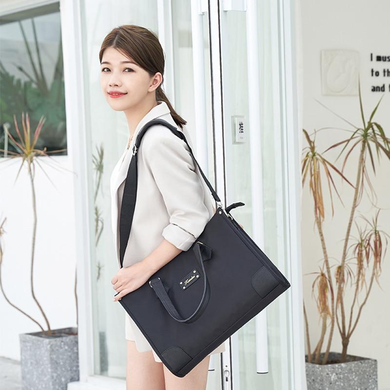 Waterproof laptop bag 13.3 14 15.6 16 inch laptop shoulder bag suitable for Macbook Air Pro cover business woman briefcase