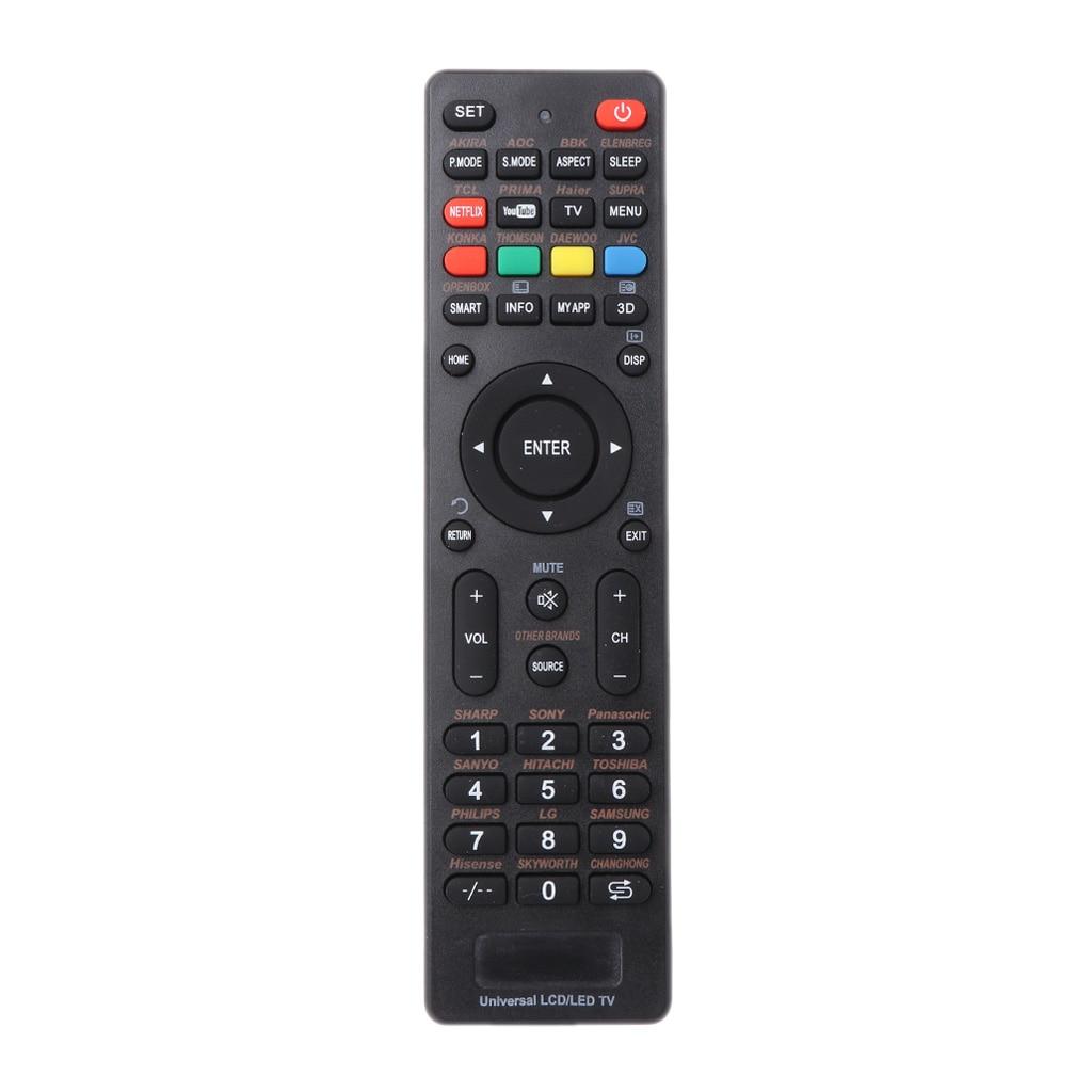 LCD LED Smart TV Control remoto controlador de repuesto para Sony Philips, Samsung, LG, Vizio Supra Bbk Izumi Panasonic Hitachi Akai