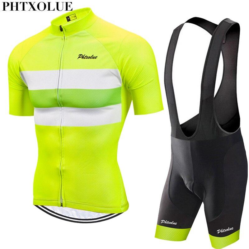 Phtxolue 2020 conjunto de ciclismo para hombres, Jersey de ciclismo, ropa de ciclismo transpirable Anti-UV para bicicleta, ropa de ciclismo