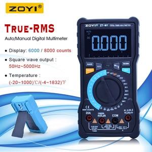 ZOYI True-RMS Digital Multimeter tester AC DC Voltage Current Ohm Temperature Multimeter battery measurer+VFC functions ZT-M0/M1