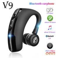 Bluetooth-наушники V9, беспроводная гарнитура, бизнес-гарнитура для звонков, спорта, наушники для iphone, Samsung