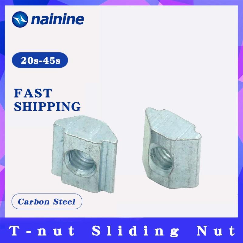 [M3 m4 m5 m6 m8] slot t-porca deslizante para 2020 3030 4040 4545 perfil slot t porca extrusões de alumínio móveis