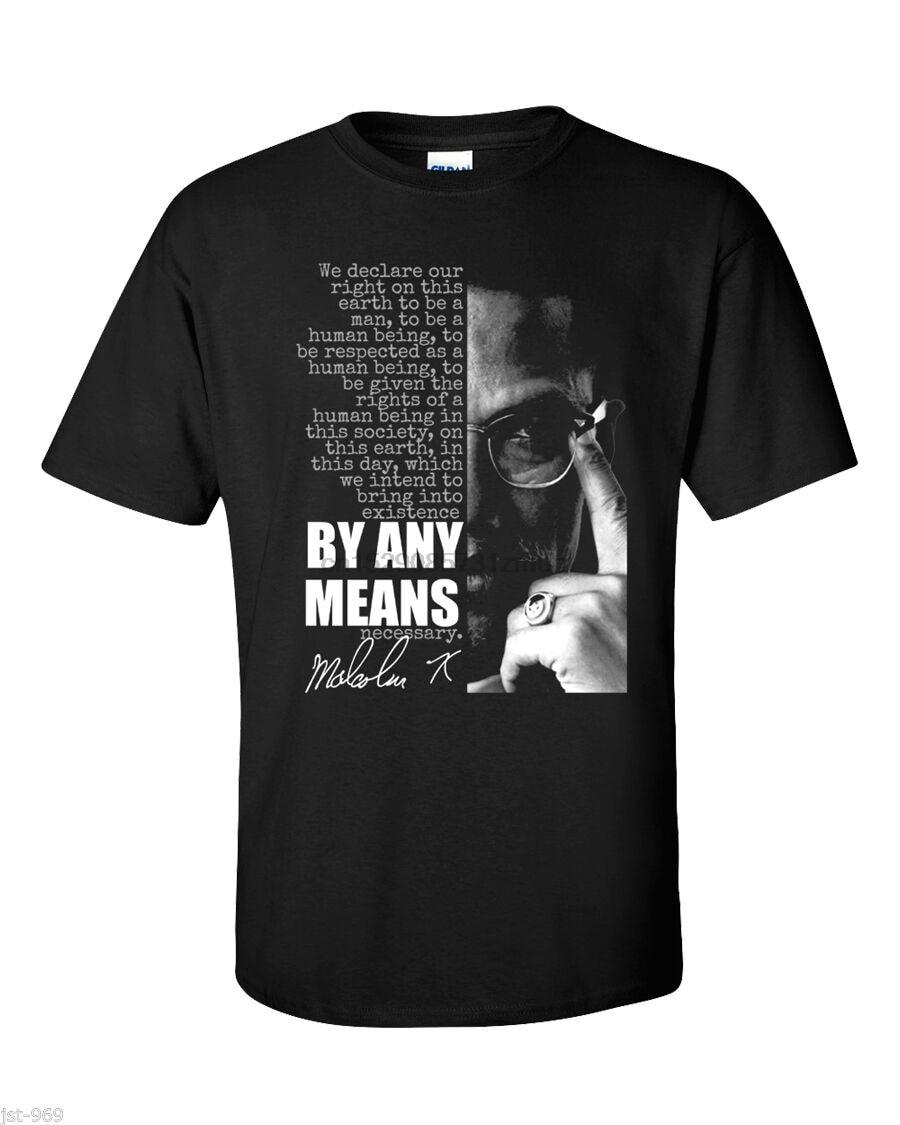 Malcolm X Футболка Черная пантера история любыми способами Цитата Лютер Кинг мужская женская футболка с капюшоном Бесплатная доставка