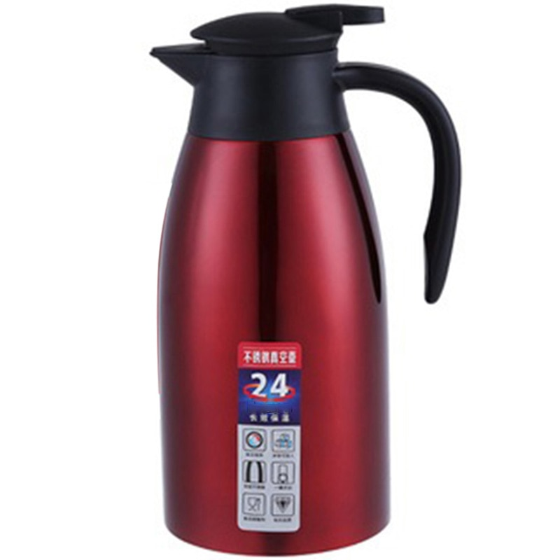 Горячая нержавеющая сталь 2л термос с вакуумной изоляцией Вода горшок Кофе Чай Молоко кувшин тепловой кувшин для дома и офиса