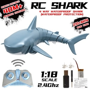 2.4Ghz 4Ch Radio Control Shark Water RC Toys for Kids Children