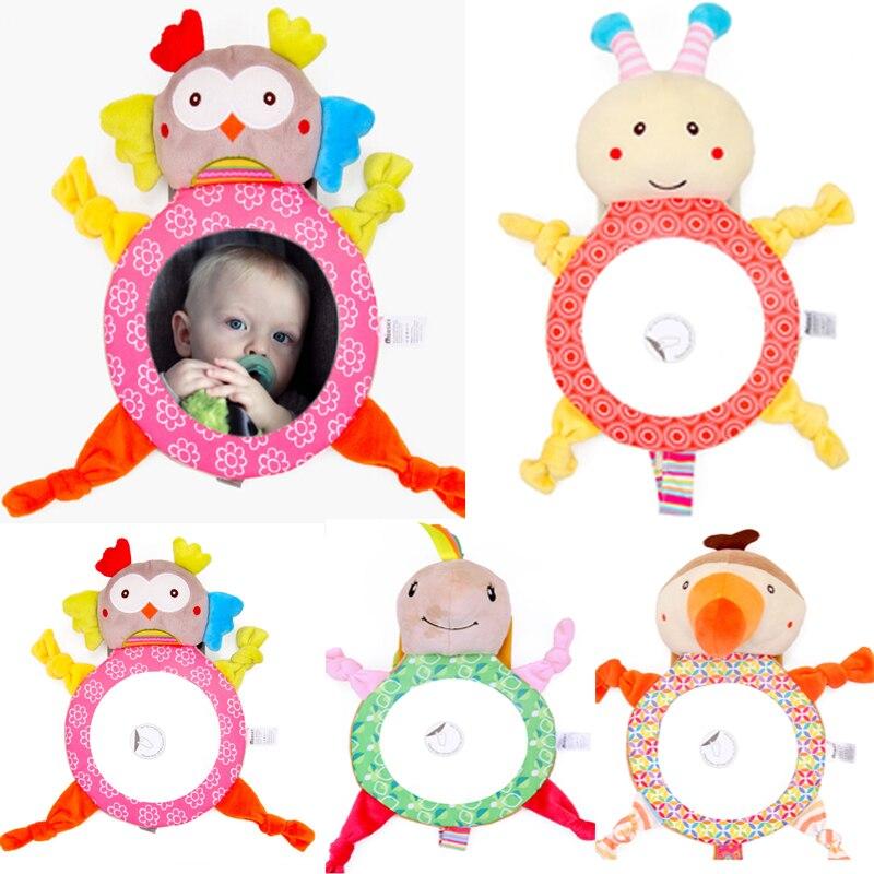 Bebé trasera espejos de coche de bebé asiento de conducción irrompible de ajustable útil lindo juguete de coche de bebé de espejo