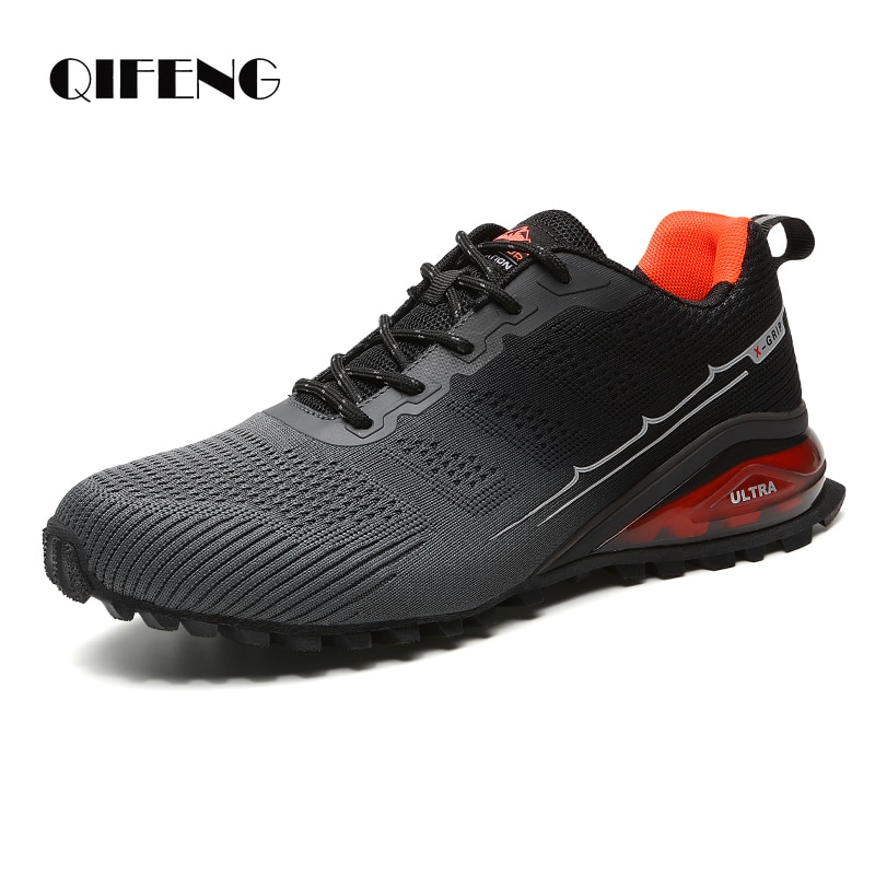 gomnear breathable mesh water shoes male outdoor swimming beach shoes big size anti skid sports trekking shoes summer sneakers Large Size 50 Summer Mens Sports Casual Shoes Breathable Red Trekking Mesh Sneakers Outdoor Trail Running Shoes Hiking Light