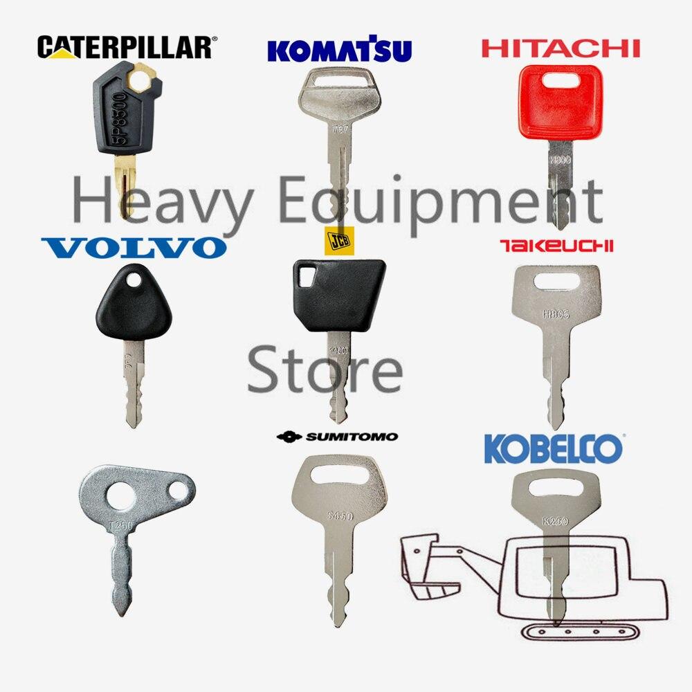 9 clave para Caterpillar Komatsu Hitachi Volvo Jcb Takeuchi Lucas Sumitomo Doosan Kobelco excavadora