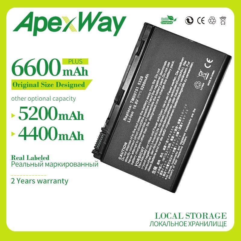 Apexway 4400mAh 10,8 v batería del ordenador portátil para Acer Extensa 5220 5630G 5620Z 5630, 7220, 7620, 7620G 5235 serie TM00741 TM00751 GRAPE32
