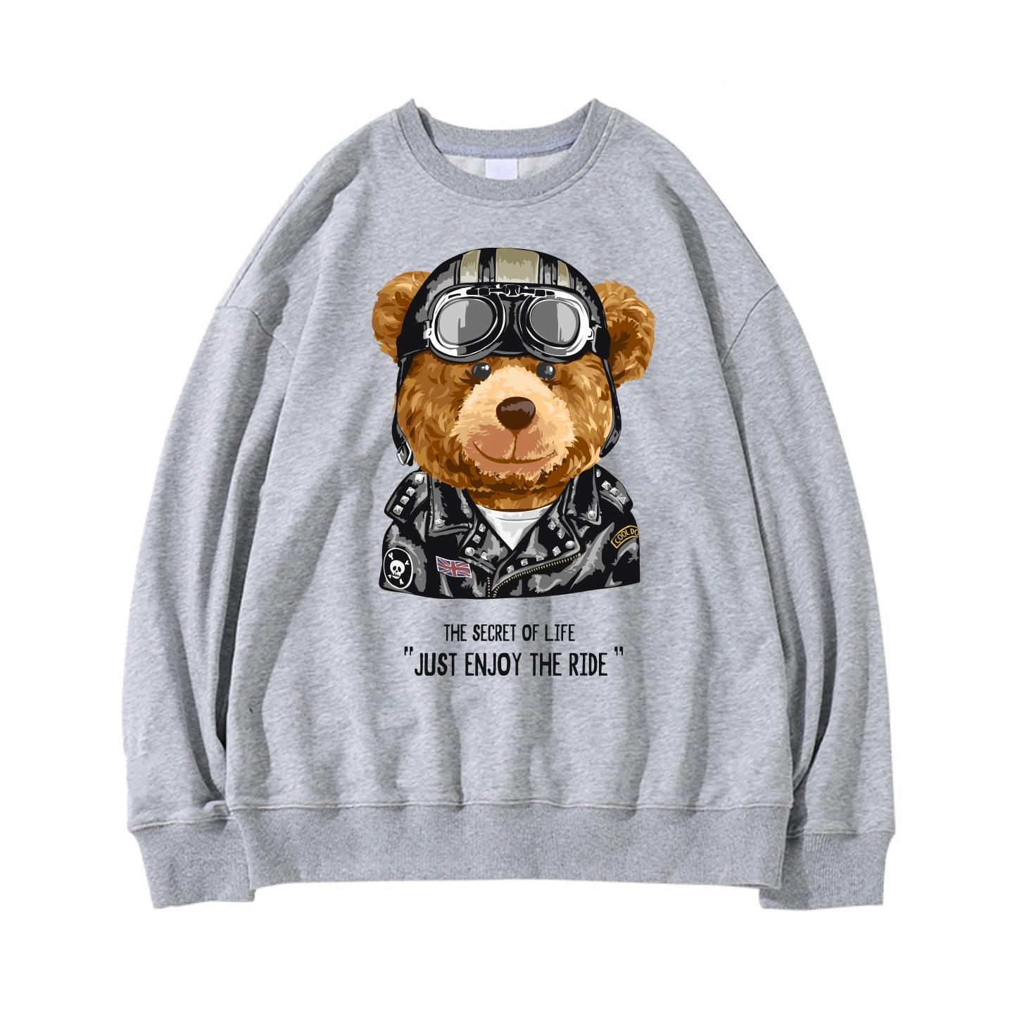 Женские уличные модные популярные толстовки 21SS с принтом крутого медведя, женские повседневные толстовки в стиле хип-хоп Harajuku