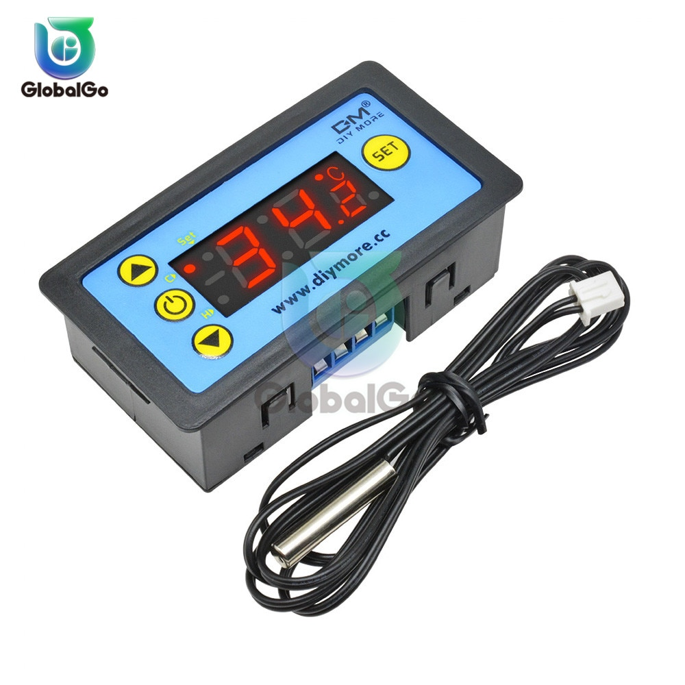 Controlador Digital de temperatura LED de 12V 24V 220V AC W3230 W3231 para incubadora, interruptor de calefacción de refrigeración, Sensor de termostato NTC
