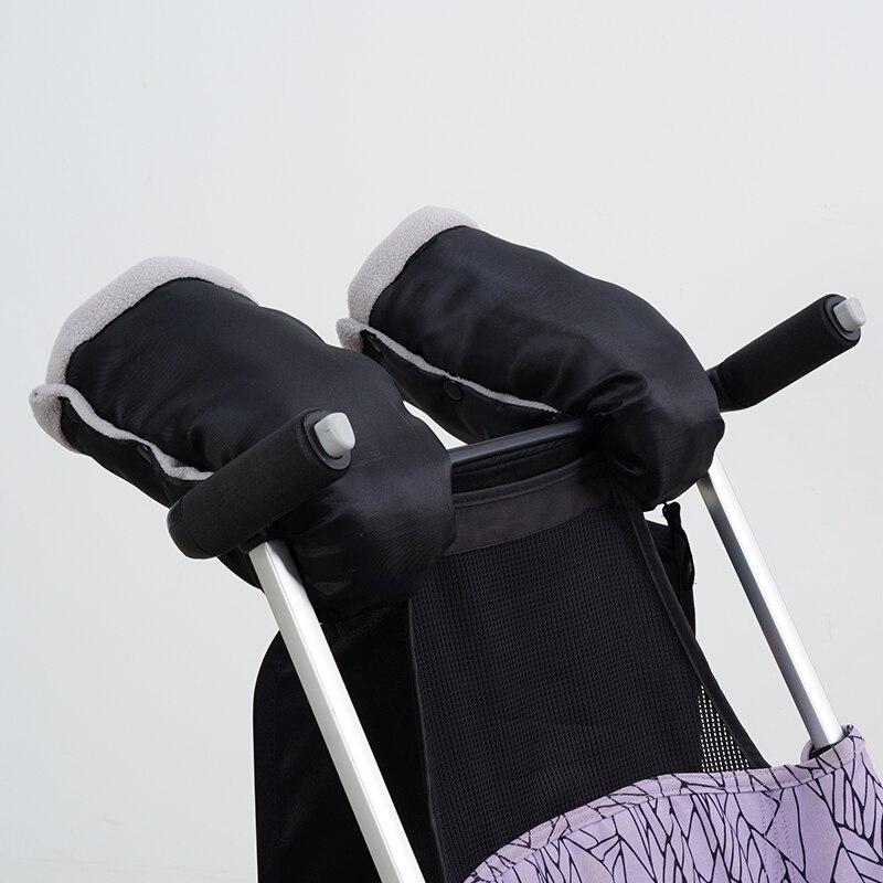2 Pieces of Winter Stroller Gloves Stroller Thick Warm Gloves Stroller Waterproof Gloves Stroller Accessories Gloves
