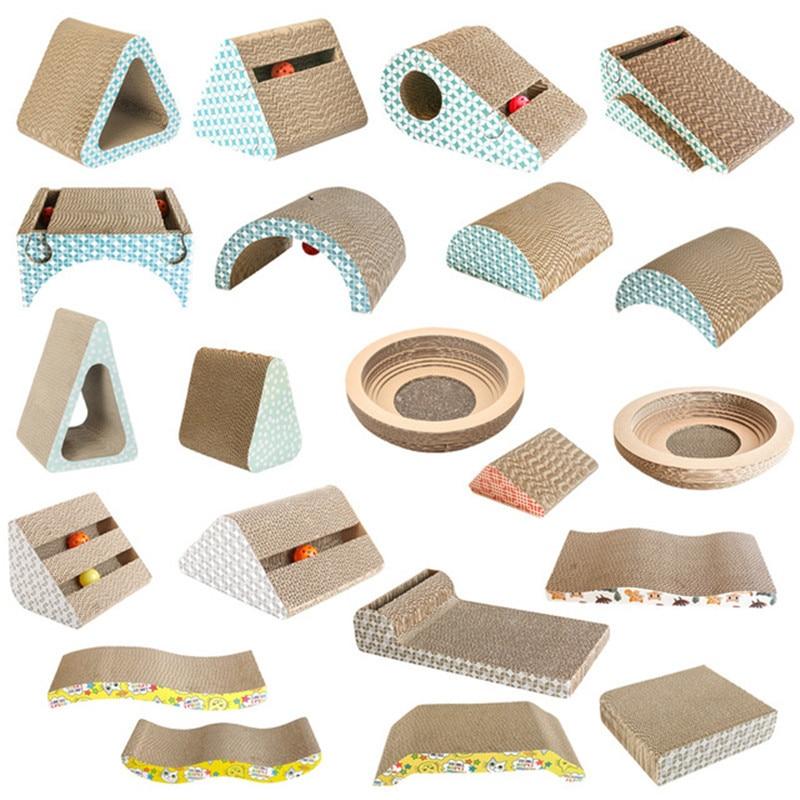 AliExpress - Pet Cat Scratcher Grinding Claw Plate Scratching Pad Corrugated Paper Board Cat Scraper Mat Toys Catnip Cardboard Pet Supplies