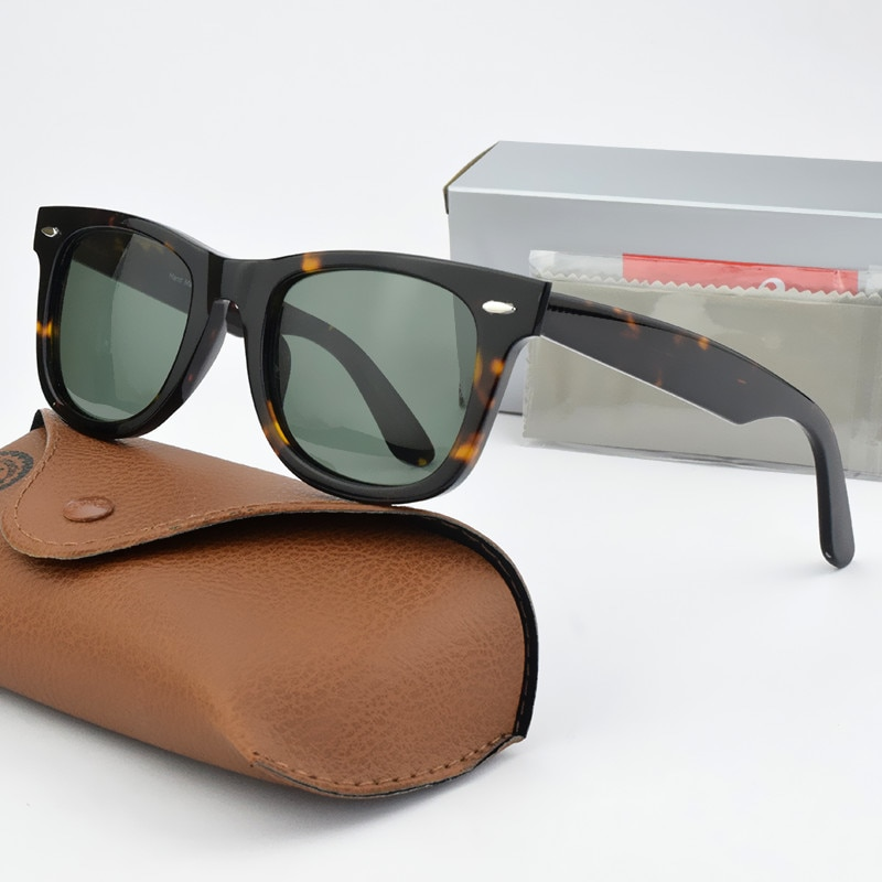 R2140 Glass lens retro sunglasses men women acetate frame Luxury Brand design 2021 new Sun glasses driving Goggles UV400 50 54MM