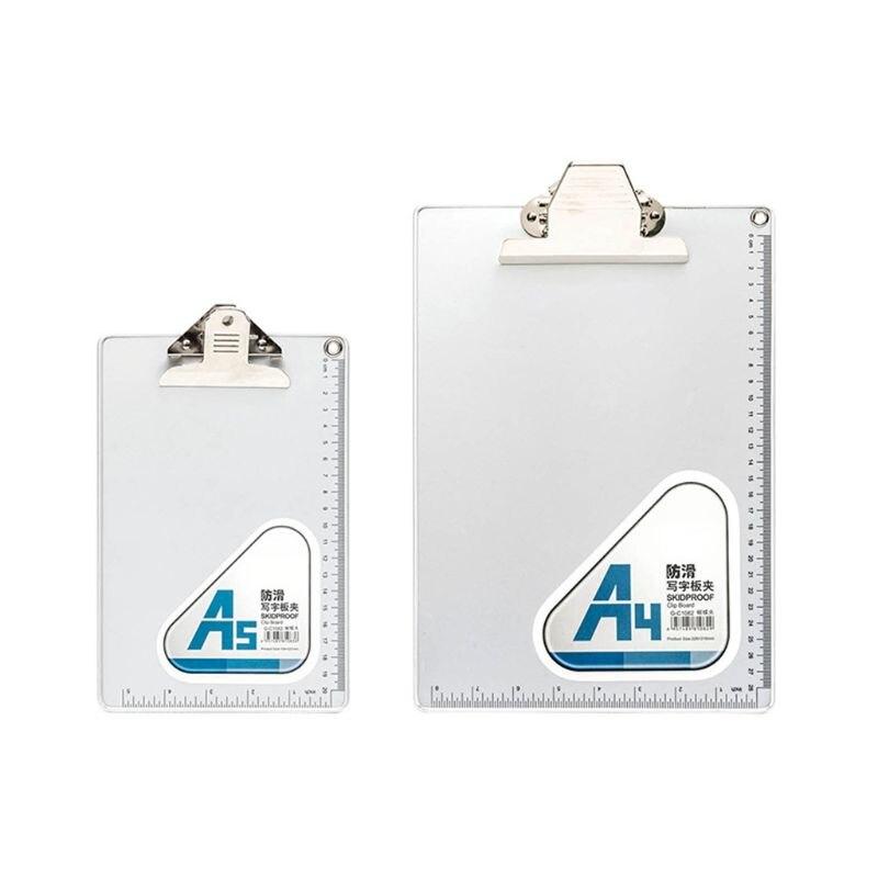 A4/A5 Clip de escritura de aleación de aluminio tablero antideslizante archivo tabla dura regla soporte de papel Clip Junta Oficina papelería escolar