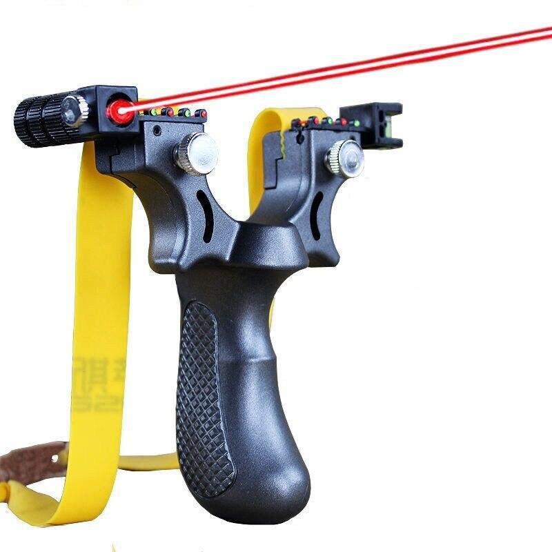 Neue Harz Slingshot-katapult mit Flache Gummiband Outdoor Jagd Schießen Schleuder Laser Mit Dem Ziel Schleuder