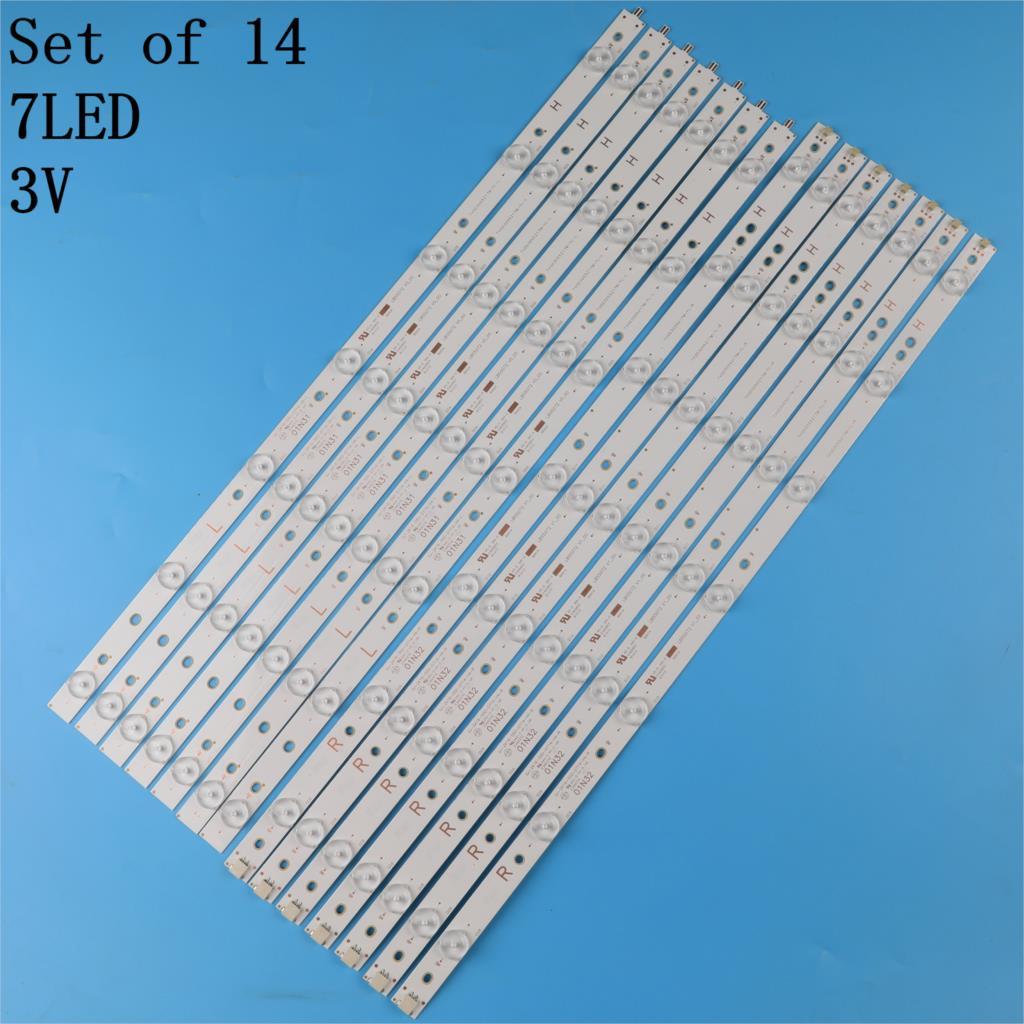 LED شريط إضاءة خلفي (14) ل 55PFF5701 55PUS6501 GJ-2K16-550-D714-V4-R L S1 55PUH6101 55PUS6581 55PUS6561 55PUS6101 01N32 01N31