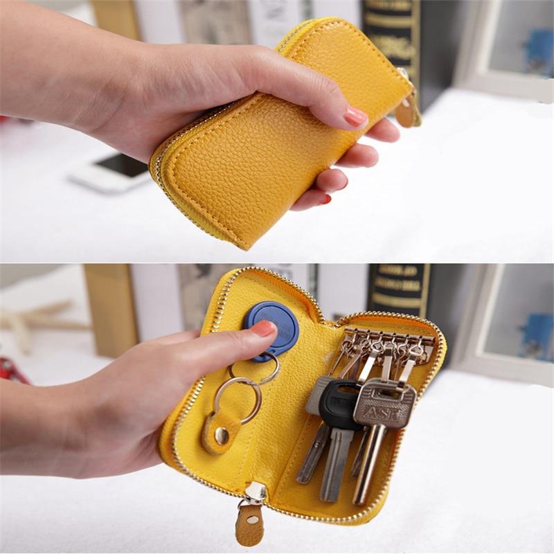 Fashion Simple Sale Keychain Key Bag Case Wallet Leather Unisex  Key Holder Organizer Car Pouch Hous