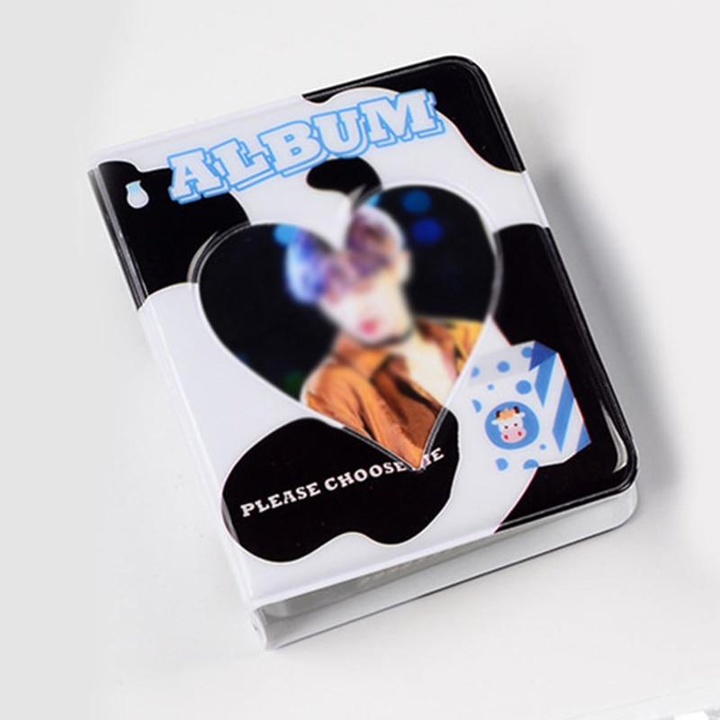Мини-фотоальбом INS 3 дюйма, Обложка для мультяшных карточек, альбом для визитных карточек, 36 карманов, полый Полароид с подключением