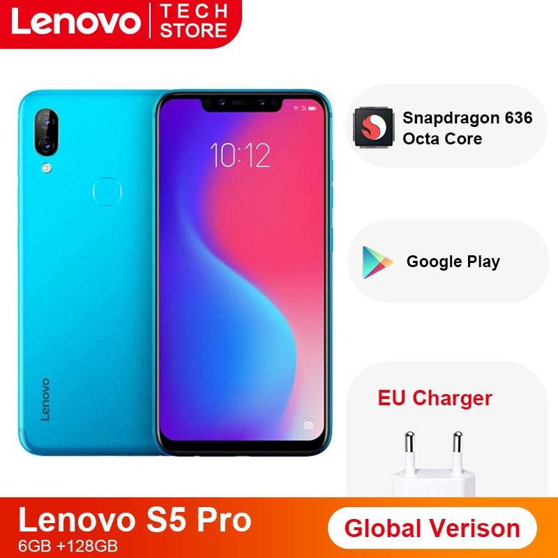 Original versión Global Lenovo S5 Pro 6GB 64GB Snapdragon 636 Octa Core 3500 mAh smartphone de 6,2 pulgadas