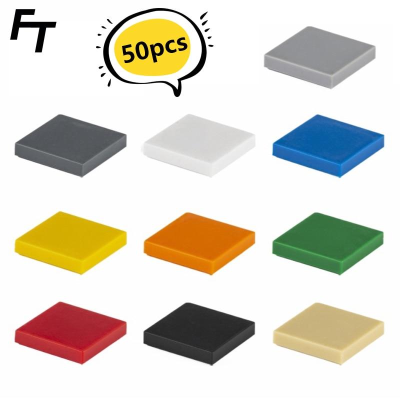 50 шт. мелкие частицы 3068 плитка 2x2 Кирпичи DIY строительные блоки совместимый креативный подарок строительные блоки MOC замок игрушки