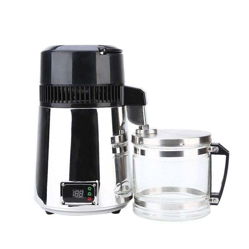 Destilador de agua pura, máquina de agua destilada de acero inoxidable 304, filtro dispensador, 4L, purificador de destilación Dental, 110V, 220V