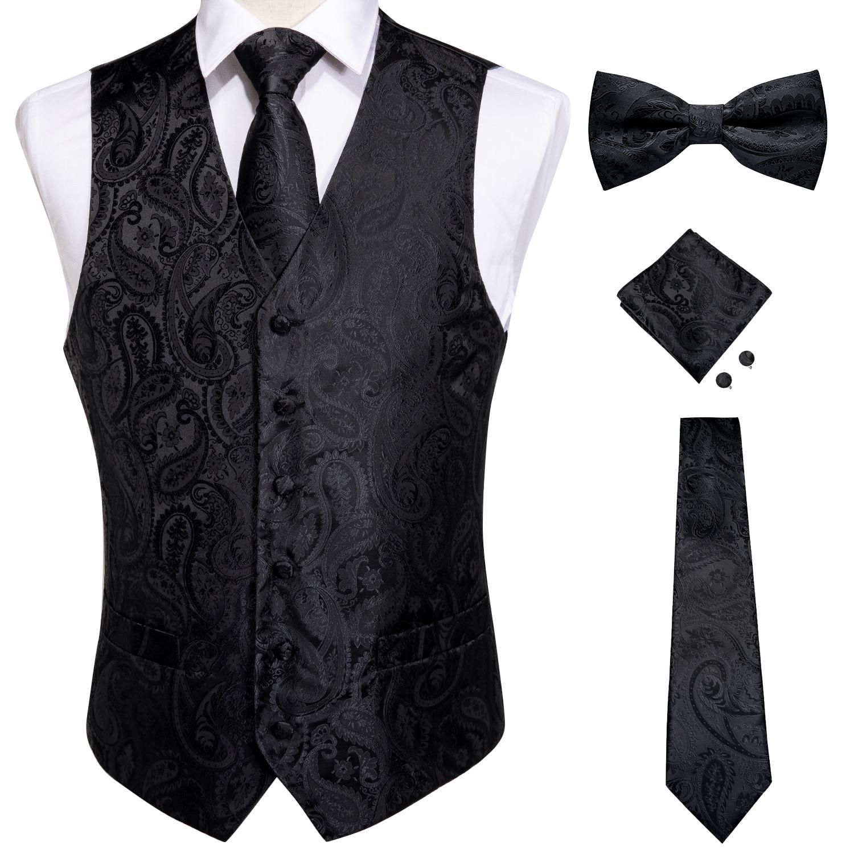 AliExpress - Vests For Men Slim Fit Mens Wedding Suit Vest Casual Sleeveless Formal Business Male Waistcoat Hanky Necktie Bow Tie Set DiBanGu