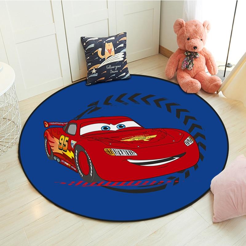 Круглый детский игровой коврик DIsney 100x100 см, напольный коврик, коврик для комнаты, Придверный коврик, нескользящий коврик, детский игровой це...