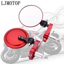 Miroirs universels pour moto   Miroir latéral rond pliable de 3 pouces pour Yamaha SEROW 250 TTR125 TTR250 TTR600 XT250 TRICKER