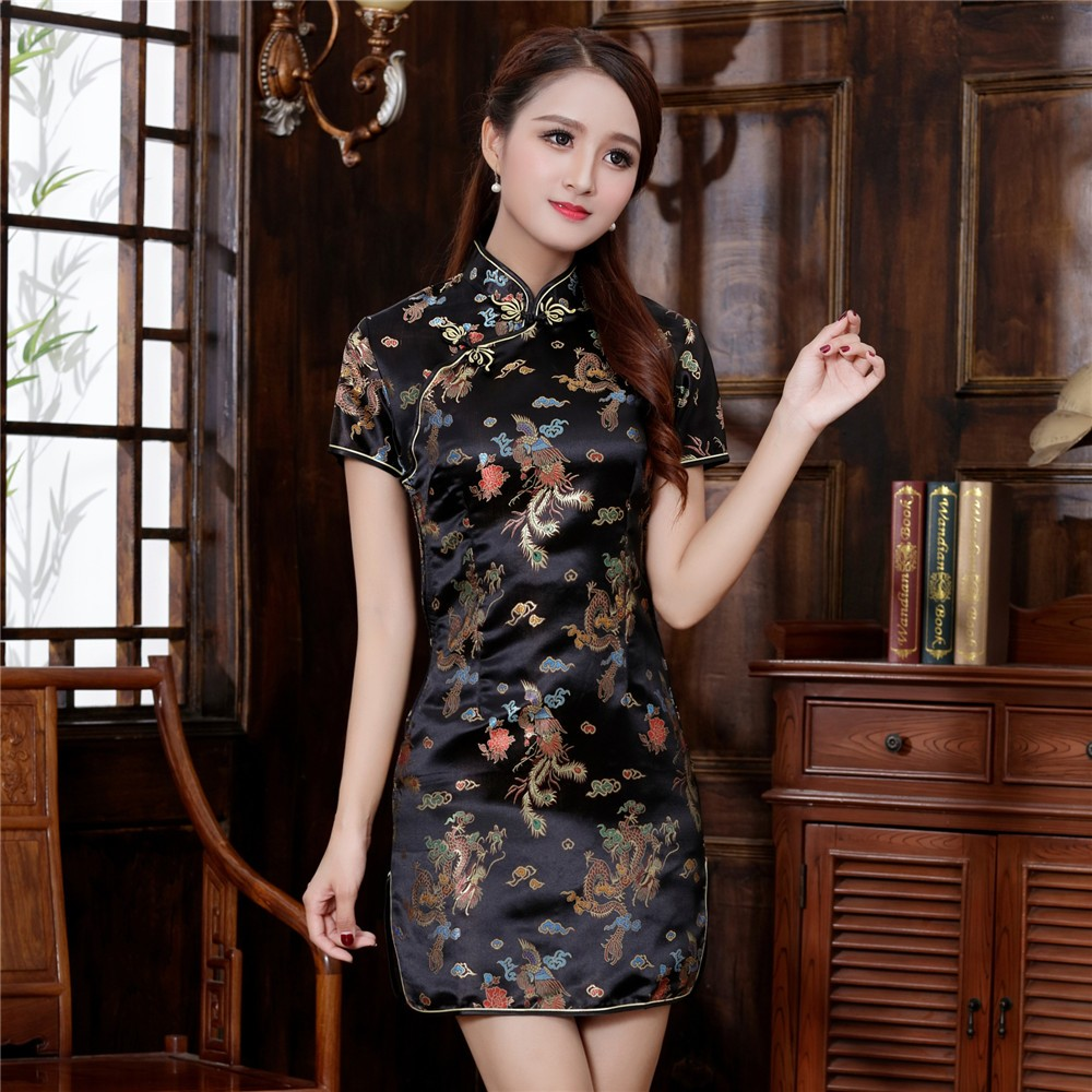 Plus Size 3XL 4XL 5XL 6XL Chinese Qipao Classic Women Satin Cheongsam Oriental Bride Wedding Dresses 2021 New Evening Party Gown