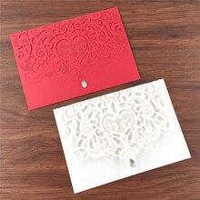 Couvertures dinvitation de mariage découpées au Laser   Cartes décoratives de fête danniversaire baptême et strass, carte dinvitation élégante de luxe