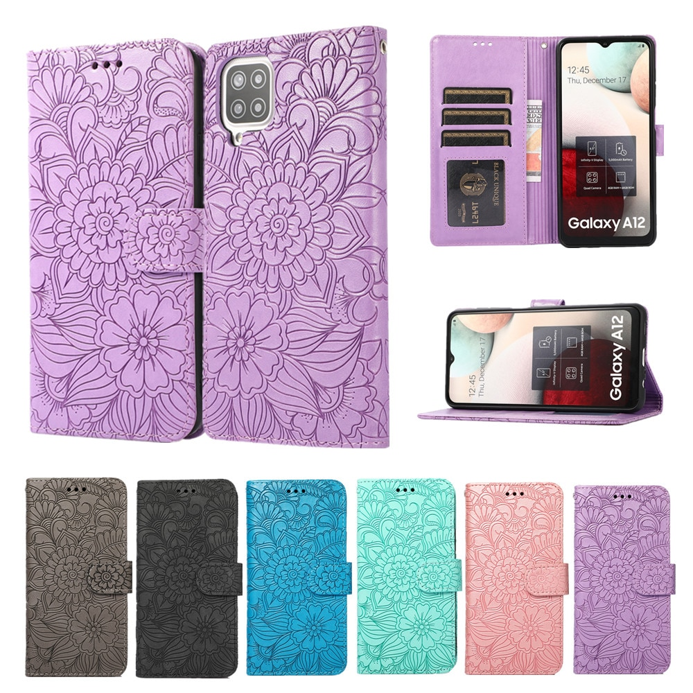 Flip Wallet Leather Case for Samsung Galaxy A72 A71 A52 A51 A42 A32 A12 A21S A20S Coque Shockproof Lanyard Full Protection Cover