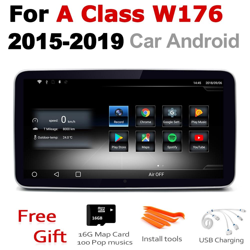 De Audio del coche de Android 7,0 navegación GPS para un Mercedes Benz Clase A. W176 2015 ~ 2019 NTG WiFi 3G 4G reproductor Multimedia Bluetooth