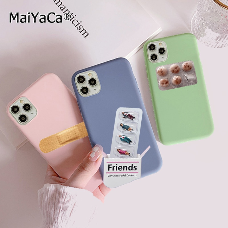 Funda transparente de silicona blanda para teléfono con cápsula de píldora médica para iPhone 11 12 Pro Max XS XR 8 7 6s Plus