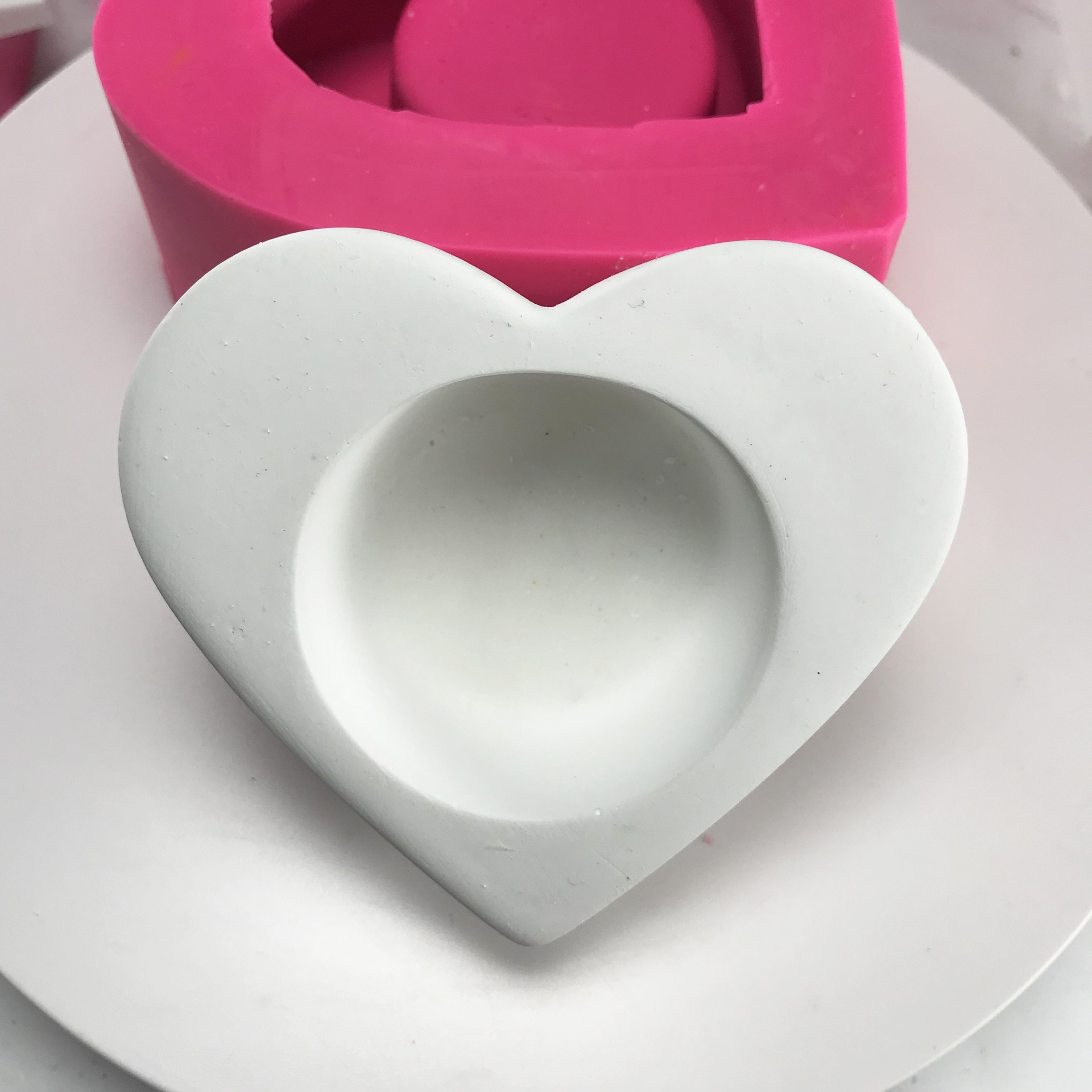 Mini maceta en forma de corazón 3D que hace moldes de silicona de candelabro para macetas de cemento hechos a mano