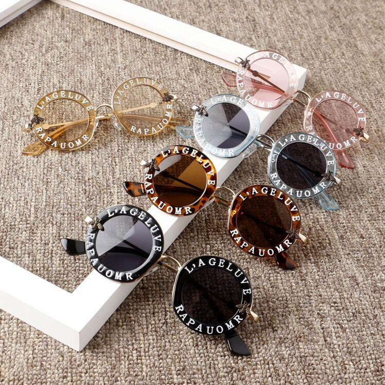 Kids Sun glasses 2019 New Infant Kids Baby Girls Boys Sunglass Letter Sun Glasses Beach Party Access