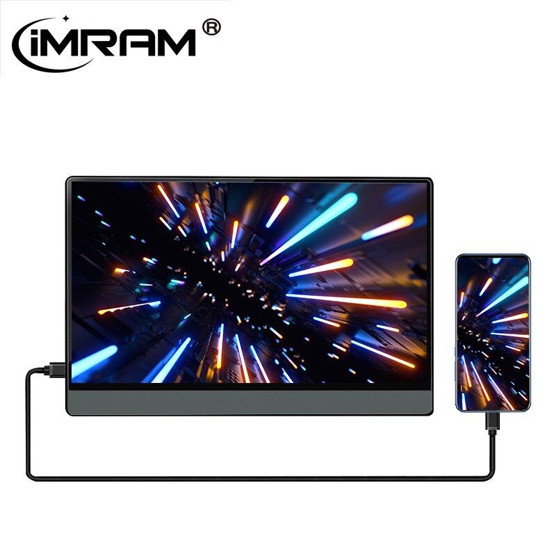 شاشة LCD محمولة ذكية تعمل باللمس 13.3 ، HD ، USB Type-C ، HDMI ، للتبديل ، الهاتف ، الكمبيوتر المحمول ، شاشة LCD