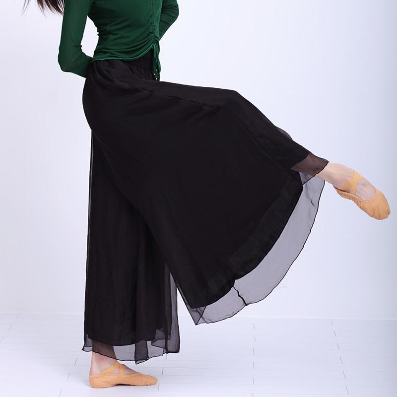 Women Dance Wide Leg Pants Ballet Practice Pants Adults Yoga Jogging Classical Trousers Loose Long Chiffon Pants Harem Pants womens loose yoga pants floral print wide leg trousers long stretch pants loose palazzo trousers sweatpantsharlan pants