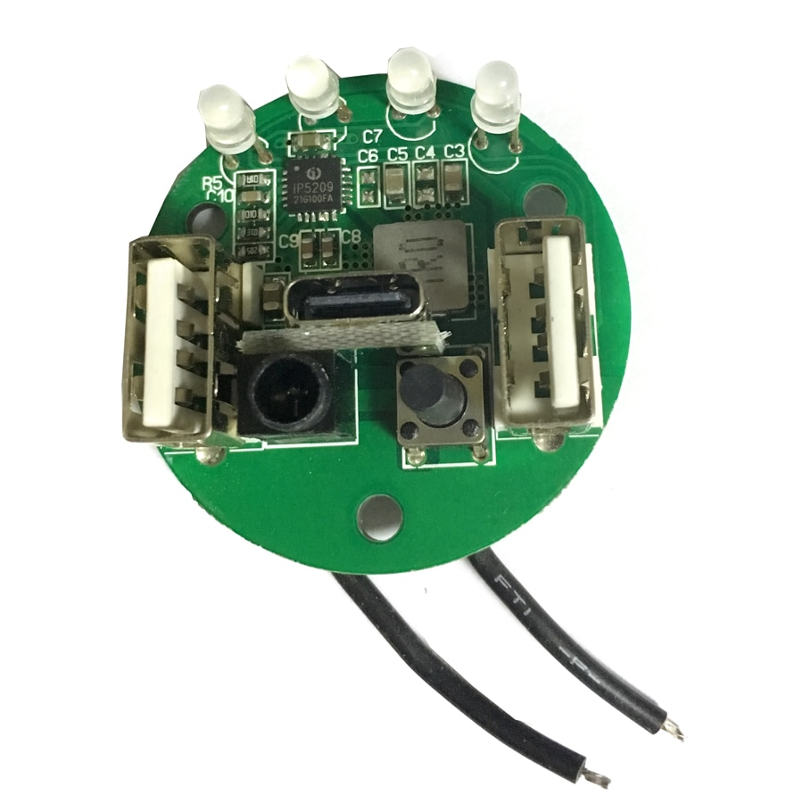 1PC Power bank circuit board for JKK36 JKK03 Flashlight Type-C USB version