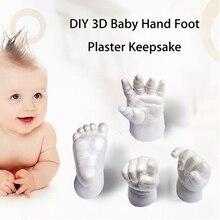 DIY kalıpları bebek el ve ayak 3D alçı el izi ayak izi bebek kalıp el ayak döküm baskılar seti Cast hediye hediyelik eşya
