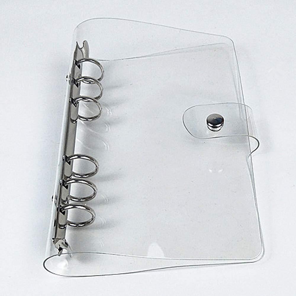 XRHYY, A5, A6, A7, блокнот с зажимом, матовый, полупрозрачный, 6 отверстий, блокнот, переплет, Обложка, скрапбук, фотоальбом, папка для файлов